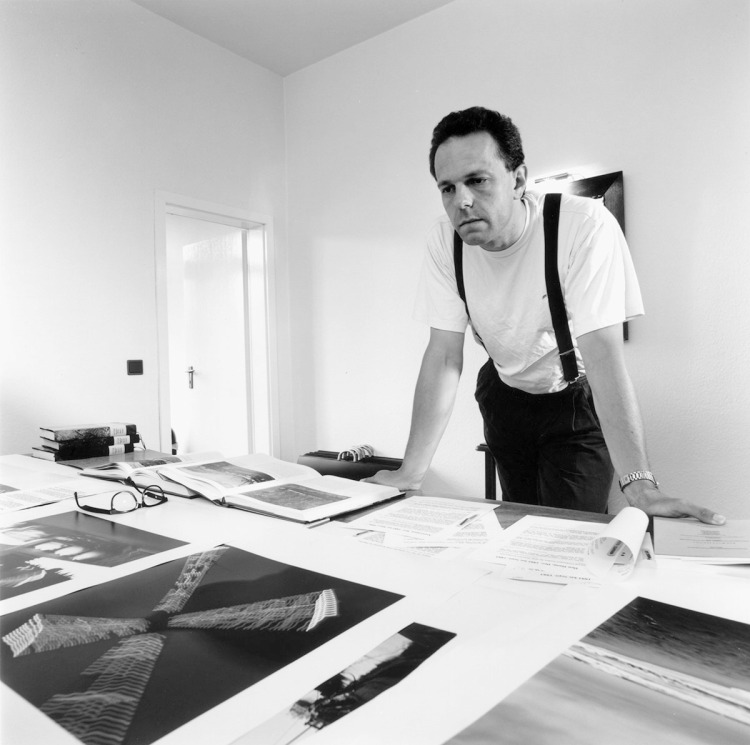 Making Of, k.e in seiner StudioGalerie in Wesel, 1994
