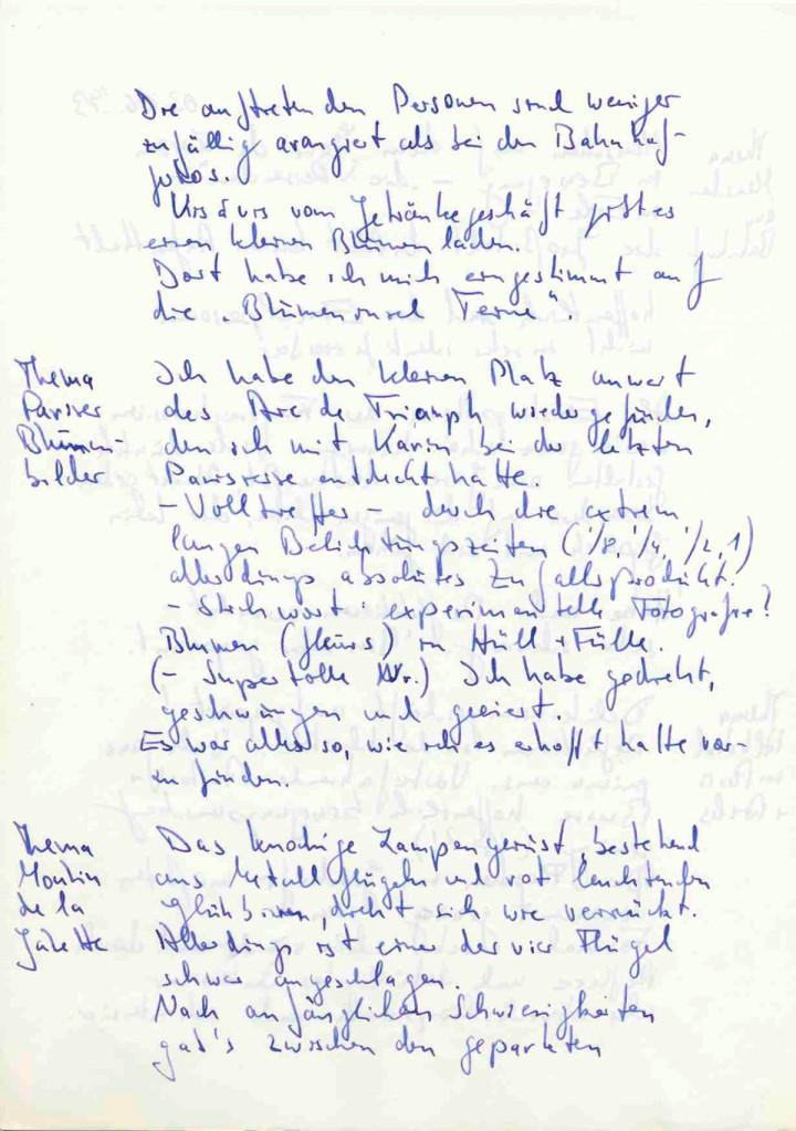 Notiz ke_012b, Paris, 1993